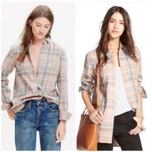 Madewell ex boyfriend Camden plaid flannel shirt